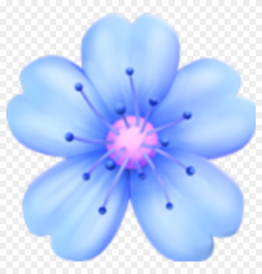 Flowers Blue Emoji Tumblr Sticker Png Flower Tumblr Pink Flower