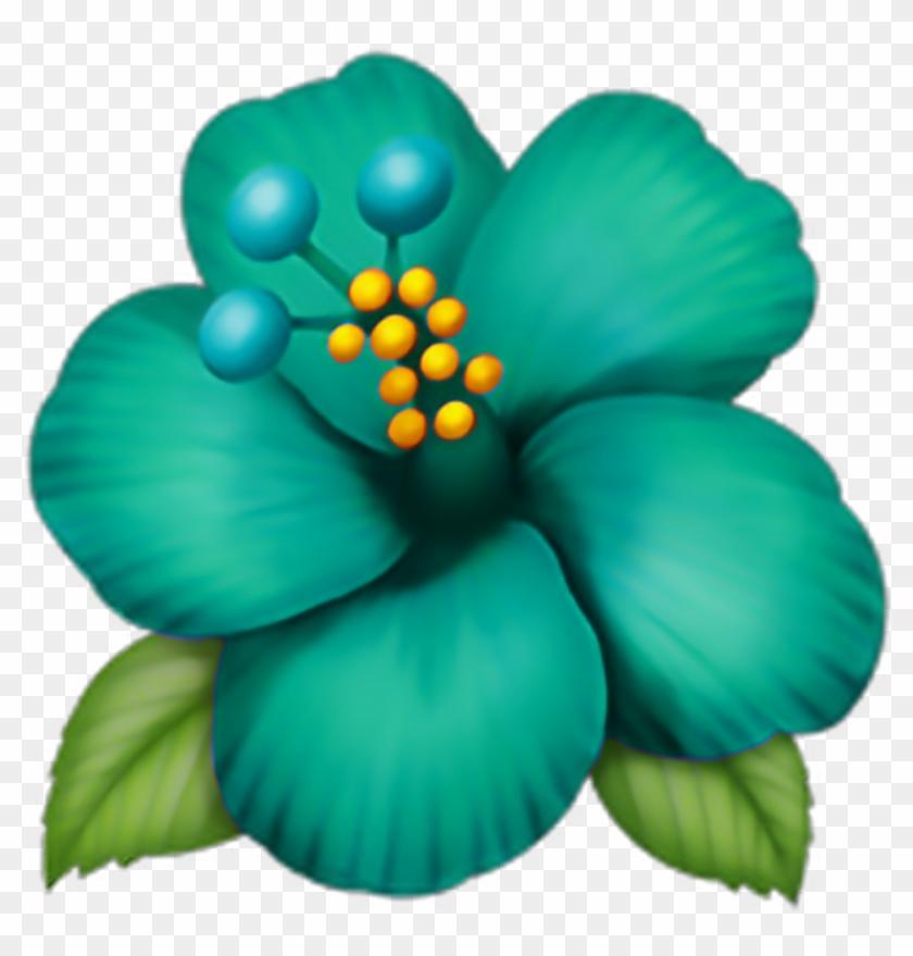 Emoji Sticker Hibiscus Emoji Hd Png Download 1024x10241163358