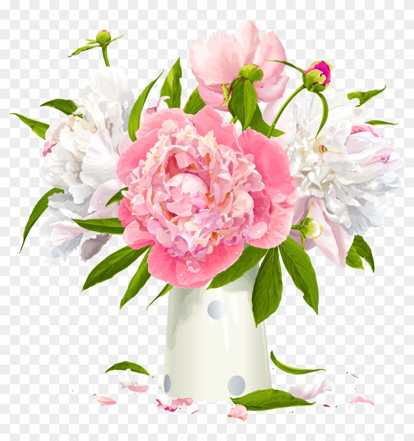 Vector Bouquet Peony Peonies Clip Art Free Hd Png Download 4184x4306 1163446 Pngfind