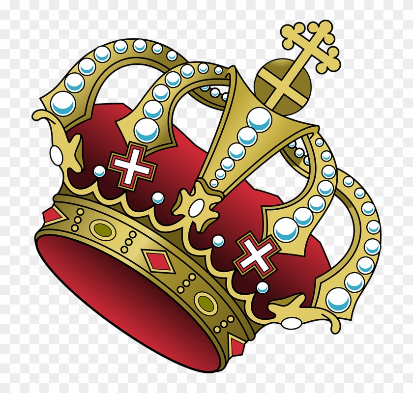 Crown Cross Jewelry Red Power Majesty Tilted Couronne Png Transparent Png 712x720 1164846 Pngfind