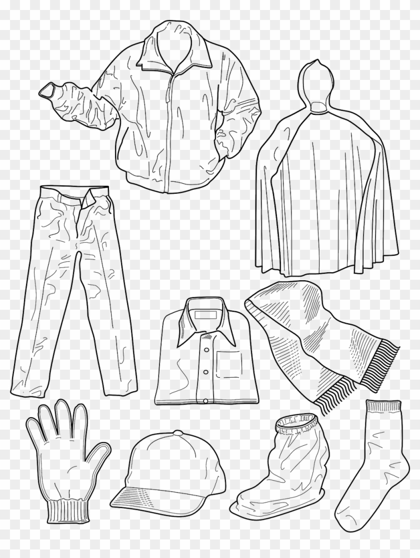 Scarce Spring Clothes Coloring Pages Winter Clothing - Am ...