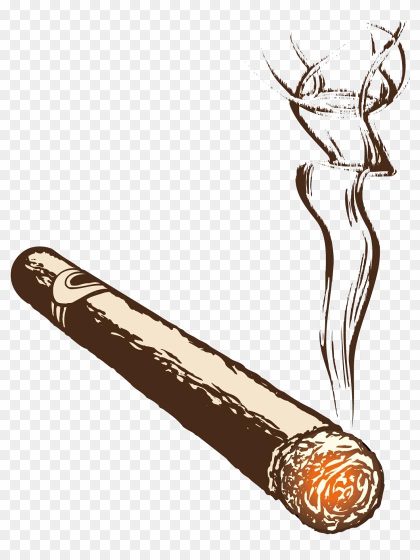 Clip Art Free Download Cigarette Smoke Burning Handmade