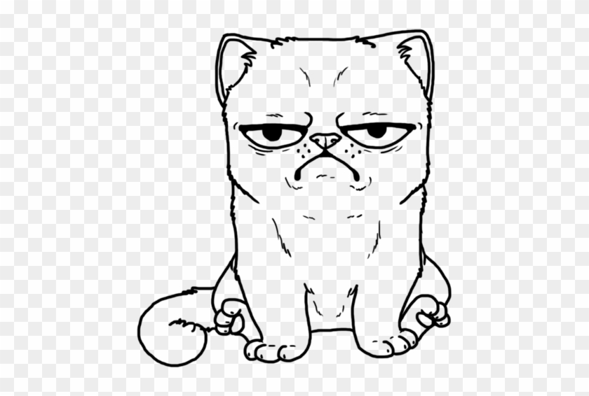 Grumpy Cat Coloring Page Hd Png Download 1024x768 1185981 Pngfind
