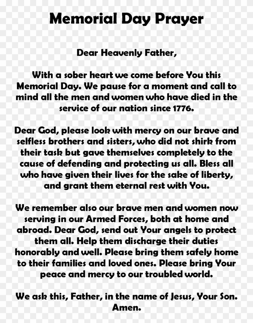 Org/memorial Day Poems/ Memorial Day - Short Remembrance Day