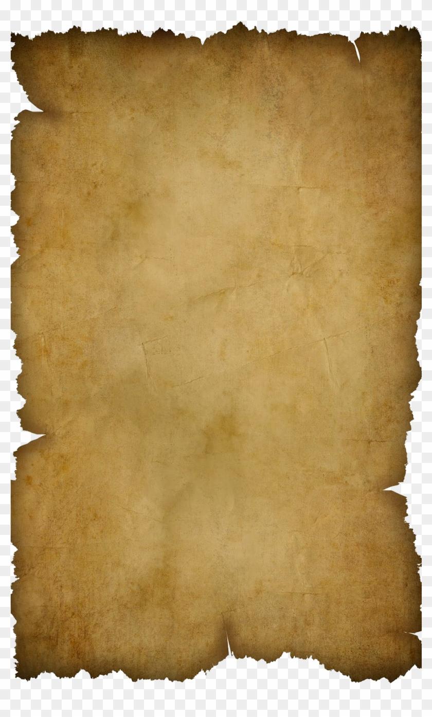 Parchment transparent background. Ancient png vellum x