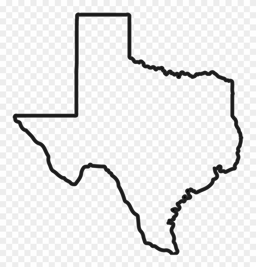 Texas State Outline Png, Transparent Png - 800x800(#122226