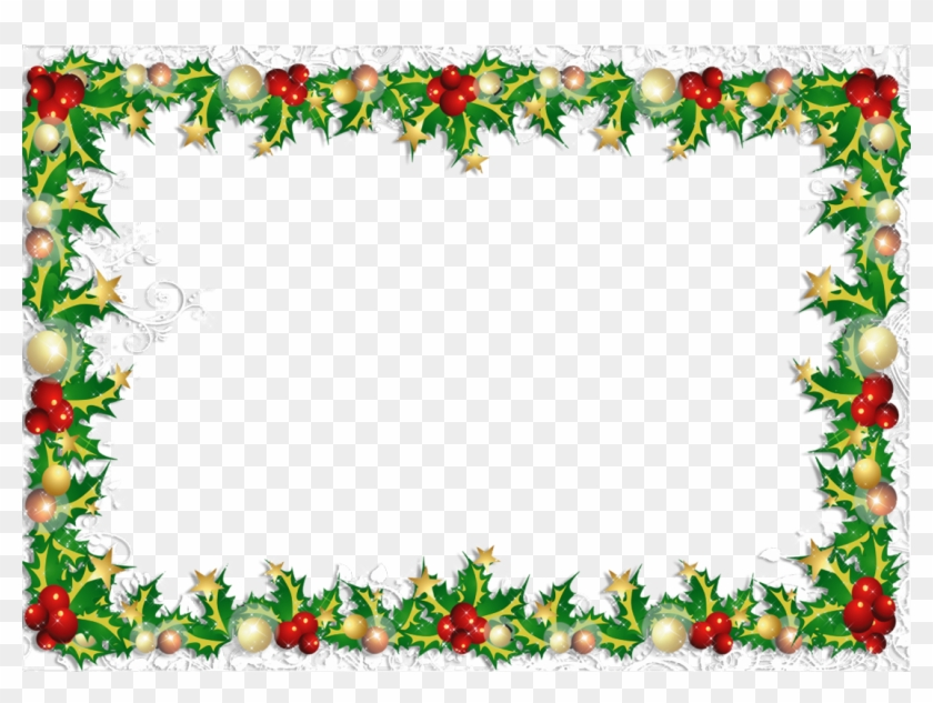 Christmas Card Border.Christmas Cards Photo Frame Hd Png Download 1100x777