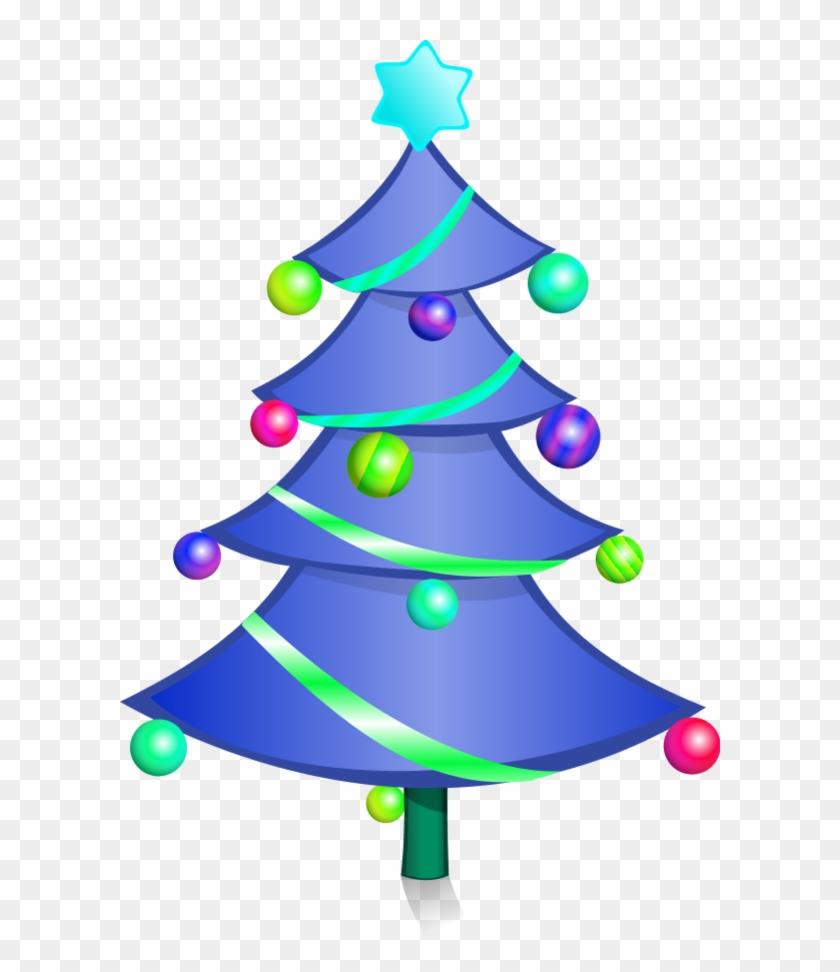 Decorated Christmas Tree Vector Clip Art Fp04ea Clipart