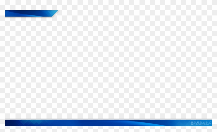 Single Layer Png File - Free Blue Twitch Overlay, Transparent Png