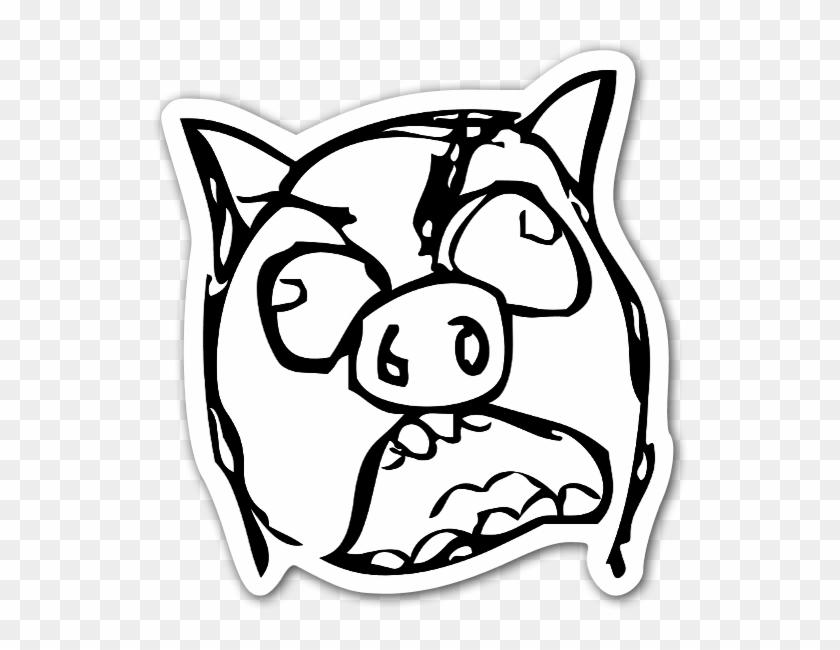 Memes Piggy Rageface Sticker Funny Roblox T Shirts Free Hd Png