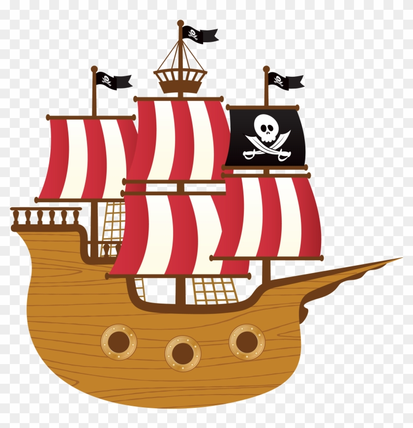 Image result for pirate ship clipart