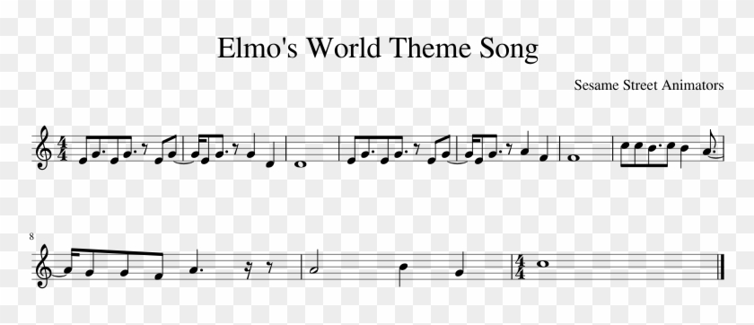Elmo's World Theme Song - Plot, HD Png Download - 850x1100