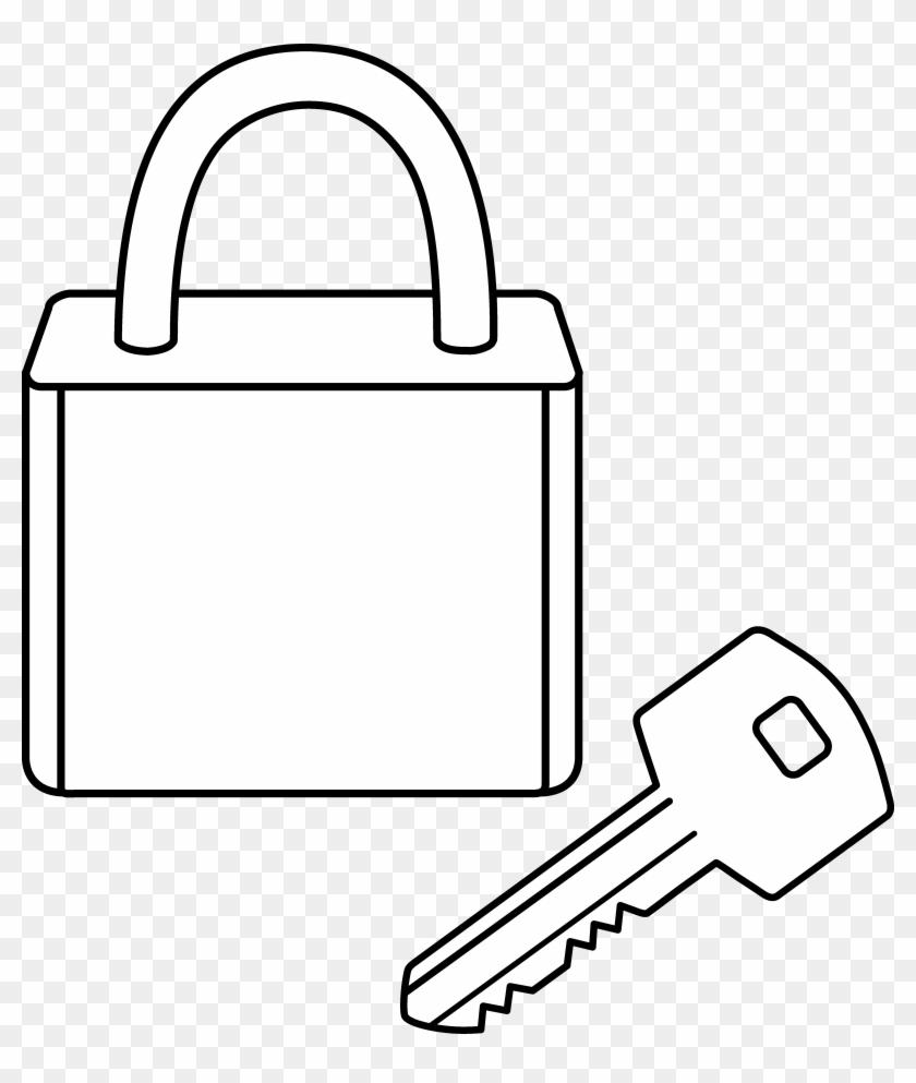 Key Outline Clipart - Line Art Locks Clipart Black And ...