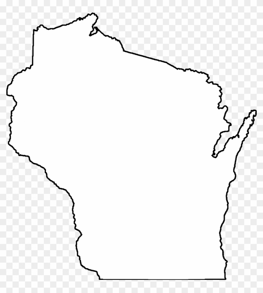 How To Draw A Us Map Outline Usa Clipart Outline - Wisconsin Clip ...