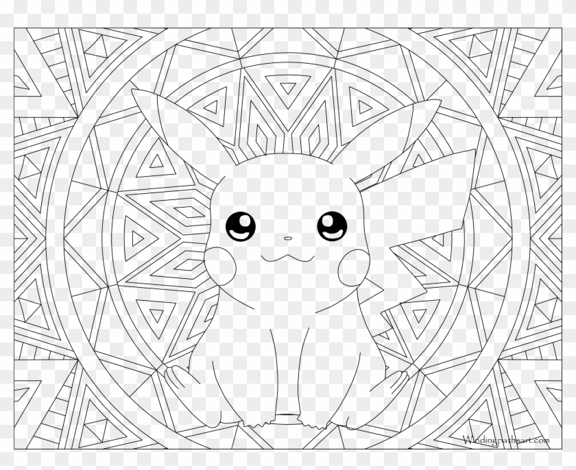 - 025 Pikachu Pokemon Coloring Page - Colouring Book Pages Pokemon, HD Png  Download - 3300x2550(#1255044) - PngFind