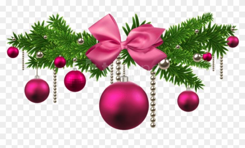 Free Png Pink Christmas Balls Decoration Png Pink Christmas