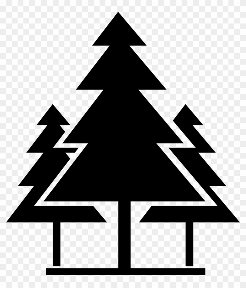 Christmas Trees Comments Forest Icon Png Black And White