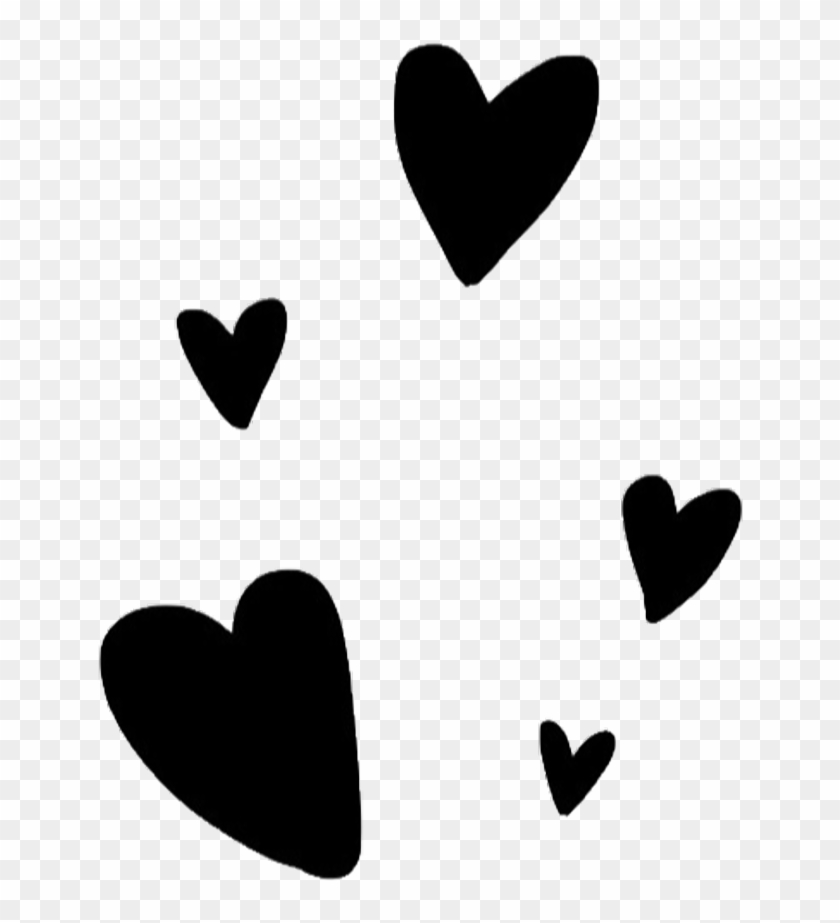 black #overlay #png #tumblr #editing #needs #cute - Heart