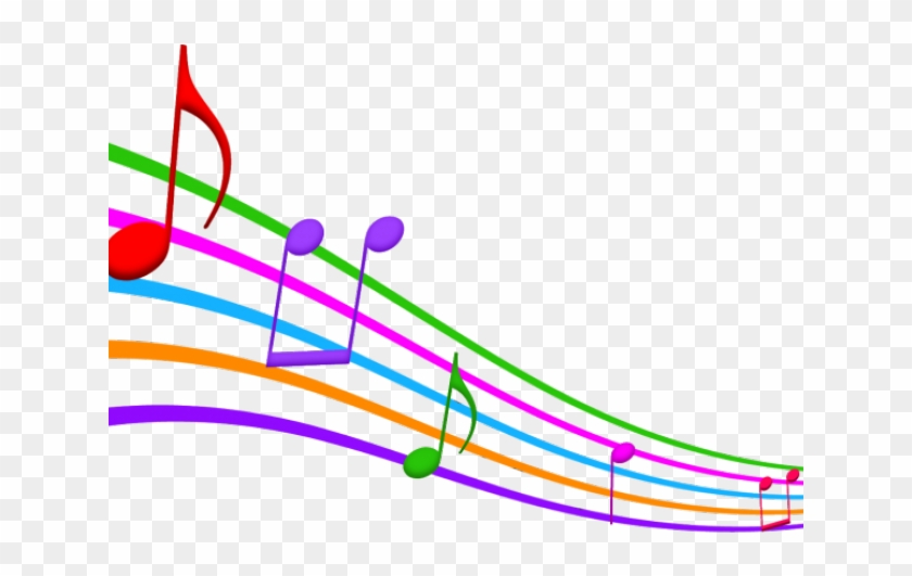Colorful Music Notes Clipart - Music Notes Transparent Background, HD Png  Download - kindpng