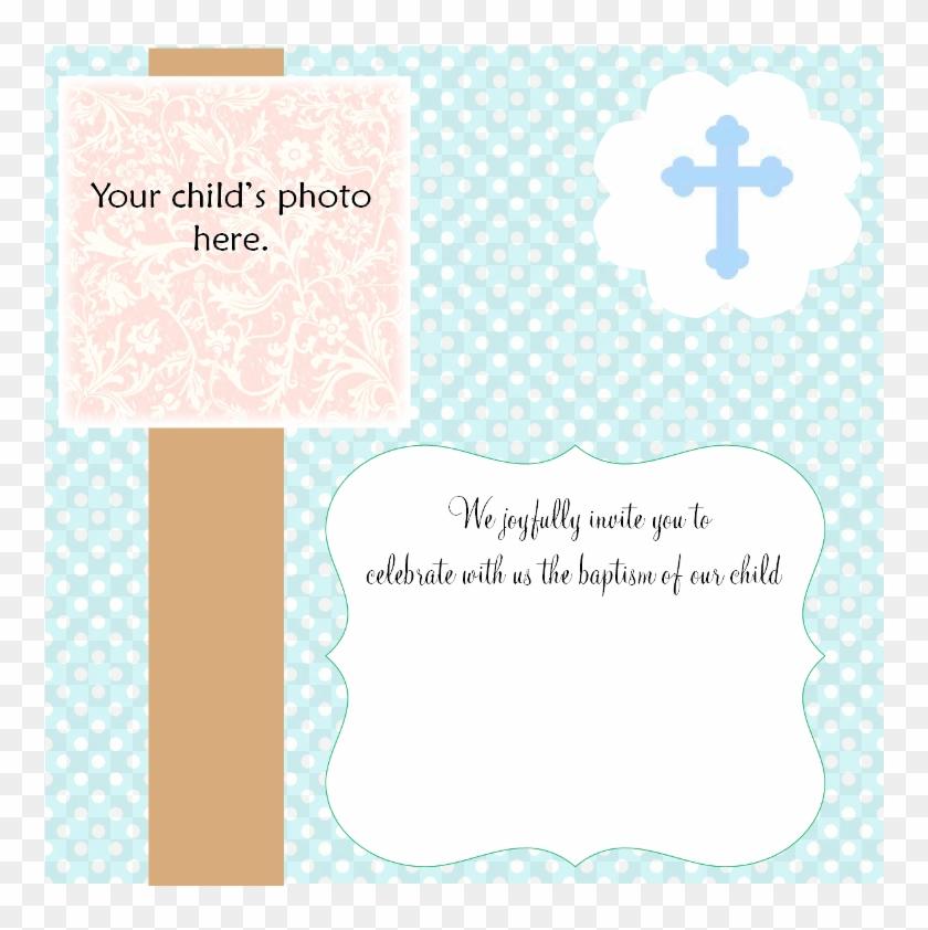 Blank Baptism Invitation Cards Little Girl Christening - Blank ...