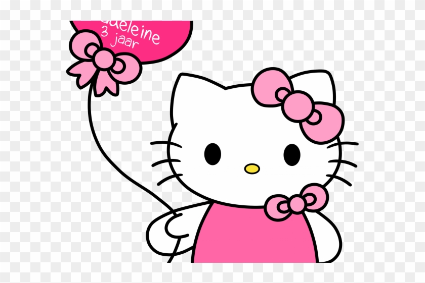 Hello Kitty With Balloons Png Hello Kitty Free Png Transparent