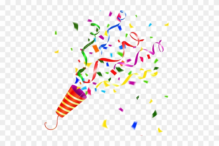 Confetti party. Clipart horn popper png