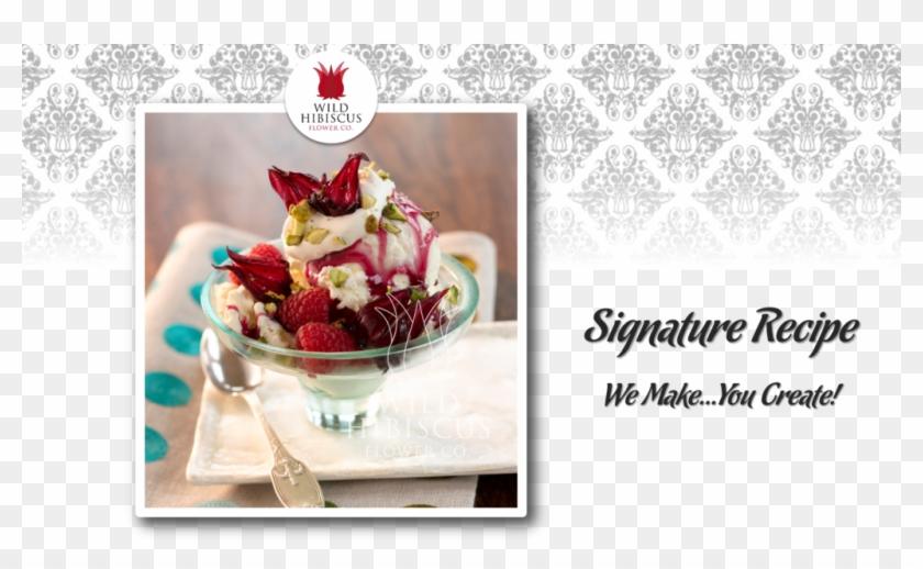 Wild Hibiscus Ice Cream Sundae Hibiscus Flower Syrup Hd Png