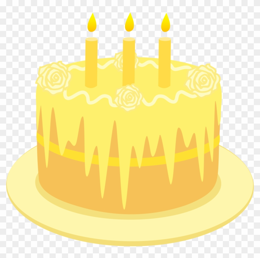 Birthday Yellow Birthday Cake Cartoon Hd Png Download 6055x5733 133770 Pngfind
