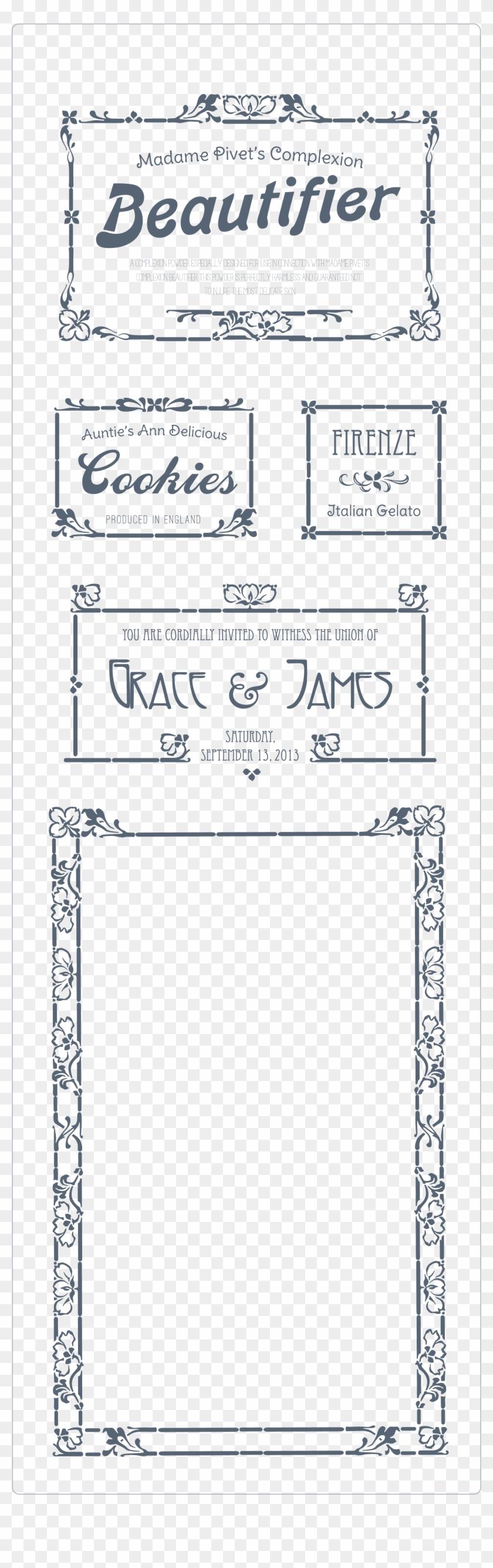 Create Elegant Art Nouveau Borders By Assembling The Carte D Invitation Gratuite Hd Png Download 1920x6010 1300300 Pngfind
