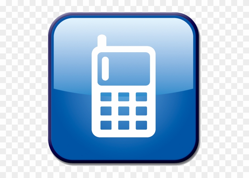 Blue Mobile Phone Vector Art Icon - Mobile Phone Icon Blue