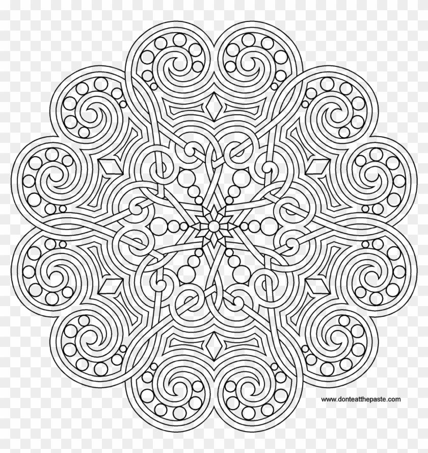 Clipart Transparent Download Garden Themed Coloring - Advanced Mandala  Coloring Pages Pdf, HD Png Download - 1600x1600(#1312227) - PngFind