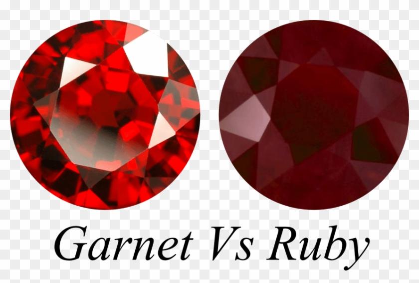 Red Garnet Vs Ruby Gemstone - Ruby Garnet, HD Png Download