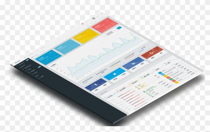 Free Bootstrap Admin Template - Admin Lte Angular 6, HD Png