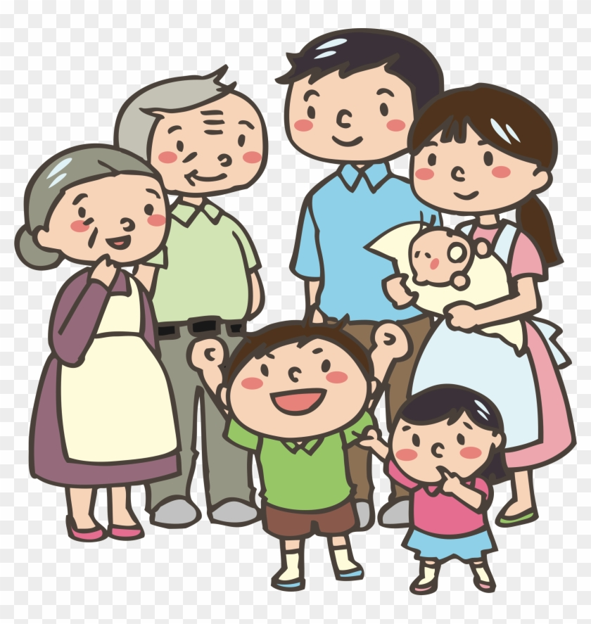 Multigenerational Family Big Image Png Cartoon Family Public Domain Transparent Png 2380x2400 1344849 Pngfind