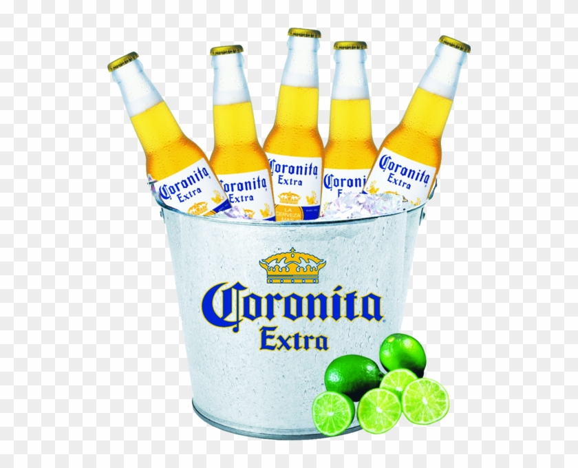 Bucket Of Corona Beers - Corona Extra, HD Png Download - 528x600