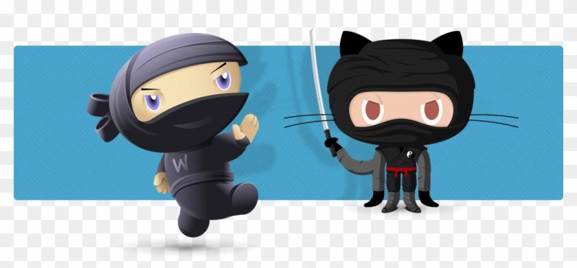 Ninja Octocat - Github Ninja Png, Transparent Png - 1300x542