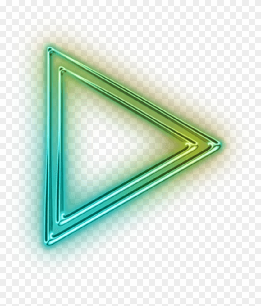 Neon Triangulo Tumblr Triangle Translucent Neon Arrow Png