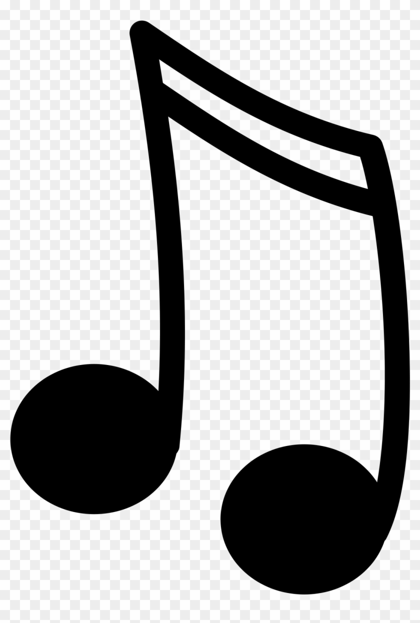 Music black. Notes png silhouette transparent