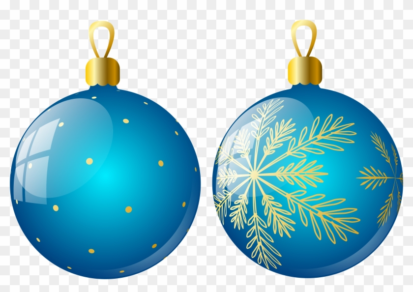 Christmas Ornaments Two Blue Ball Png Christmas Tree Ornaments Png