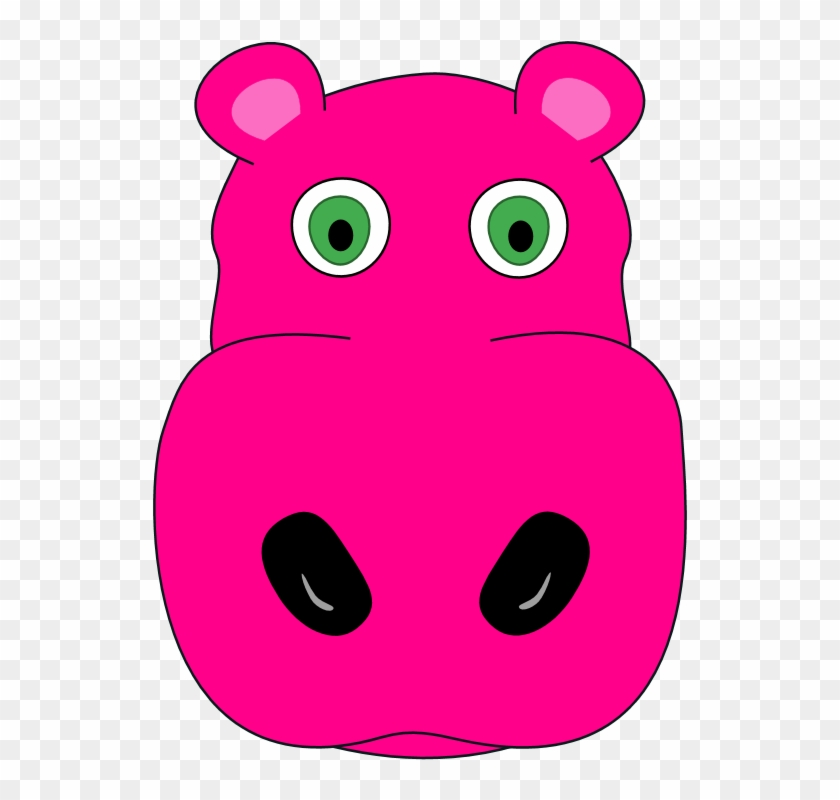 Hippo Clipart Scared - Animals Face Art Clips, HD Png ...