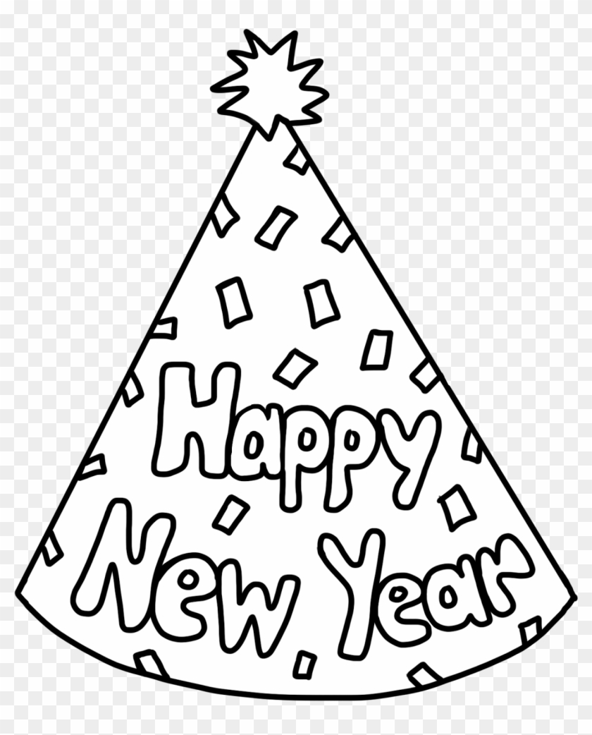 graphic library stock year clipart new year s day new year party hat coloring page hd png download 1376x1600 147581 pngfind graphic library stock year clipart new