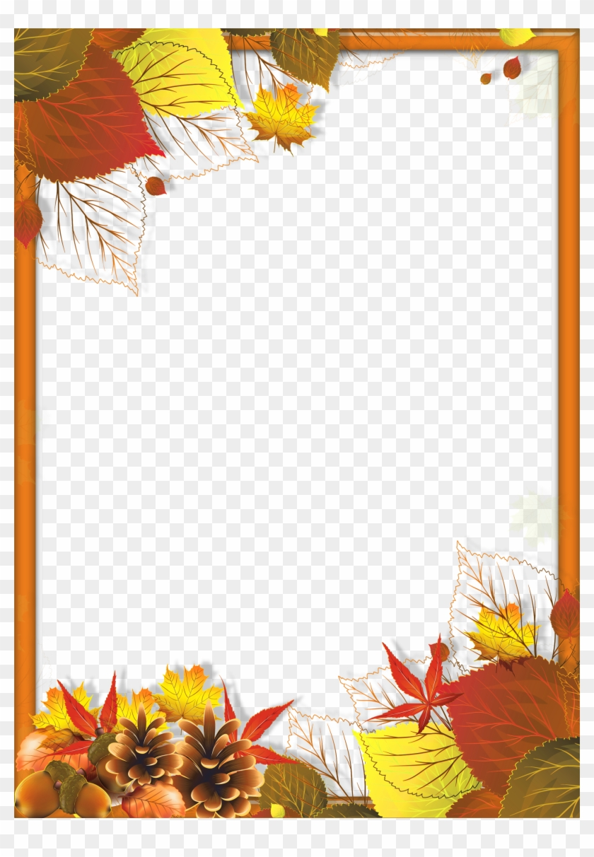 Transparent Fall Frame With Leaves Gallery Png Png - Autumn Page