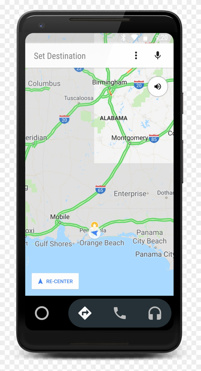 Google Maps On Android Auto - Map, HD Png Download ...