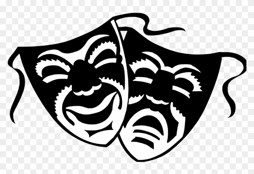 High School Learners Needed For - Drama Masks Tribal Tattoo, HD Png