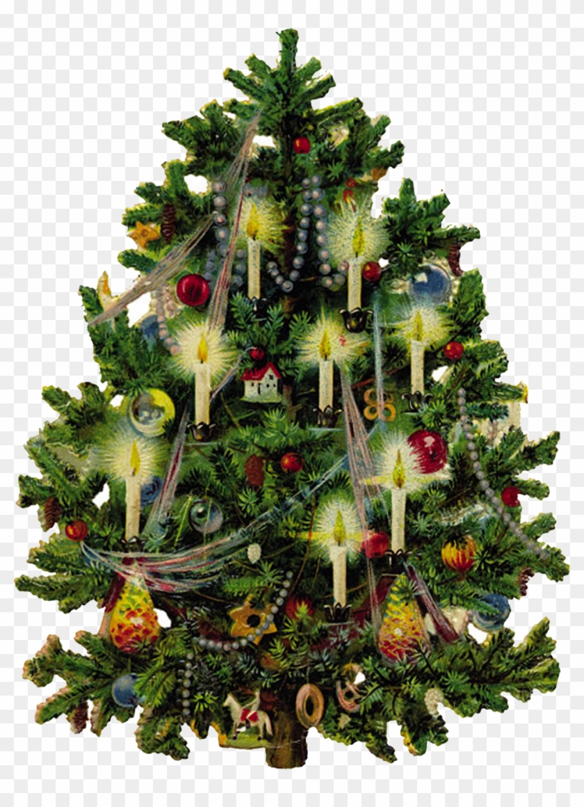 Vintage Christmas Tree Clipart