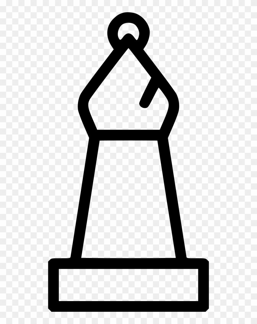Png File Svg - Bishop Chess Icon White, Transparent Png
