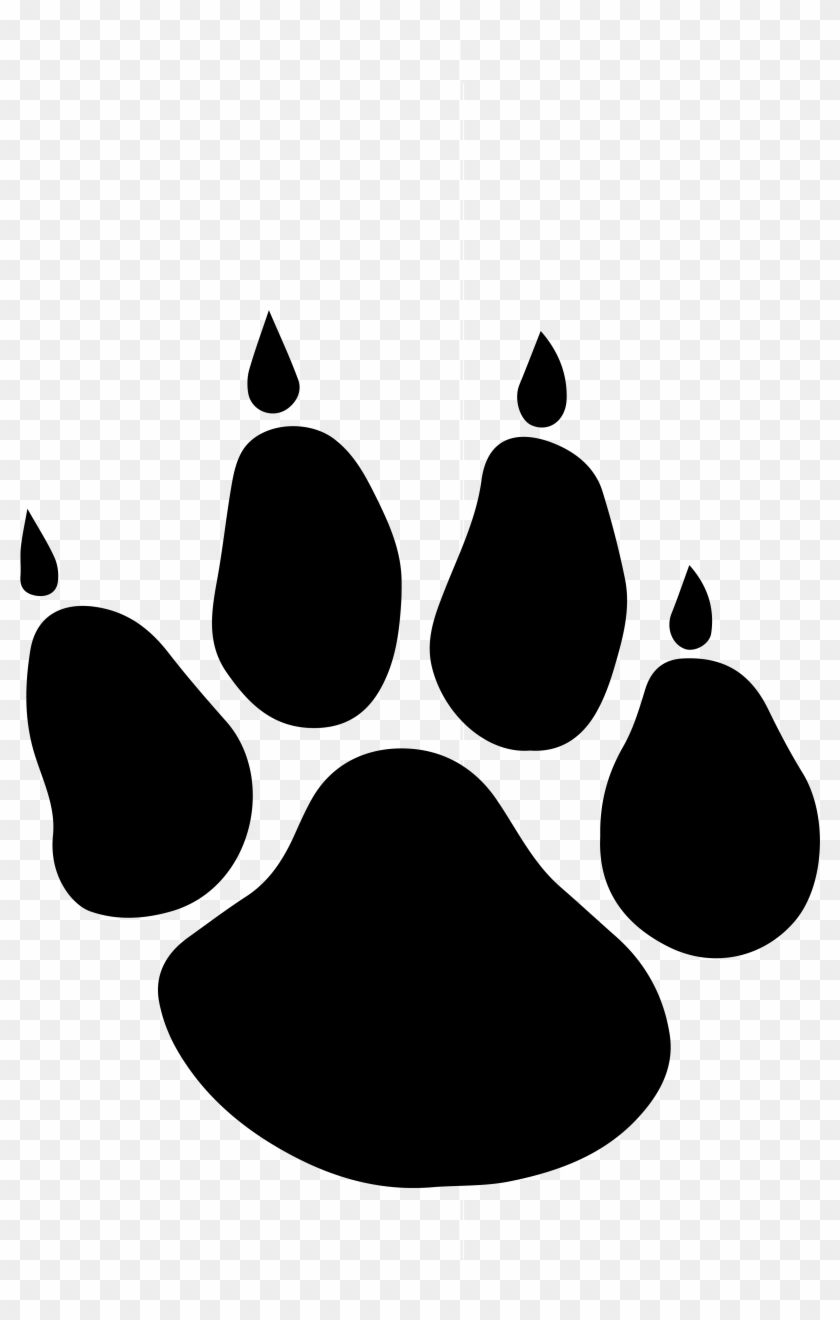 Picture Free Clip Art Bear Paw Prints Image - Loyola High