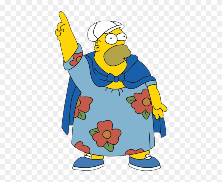 Homero Png Homer Wearing A Dress Transparent Png