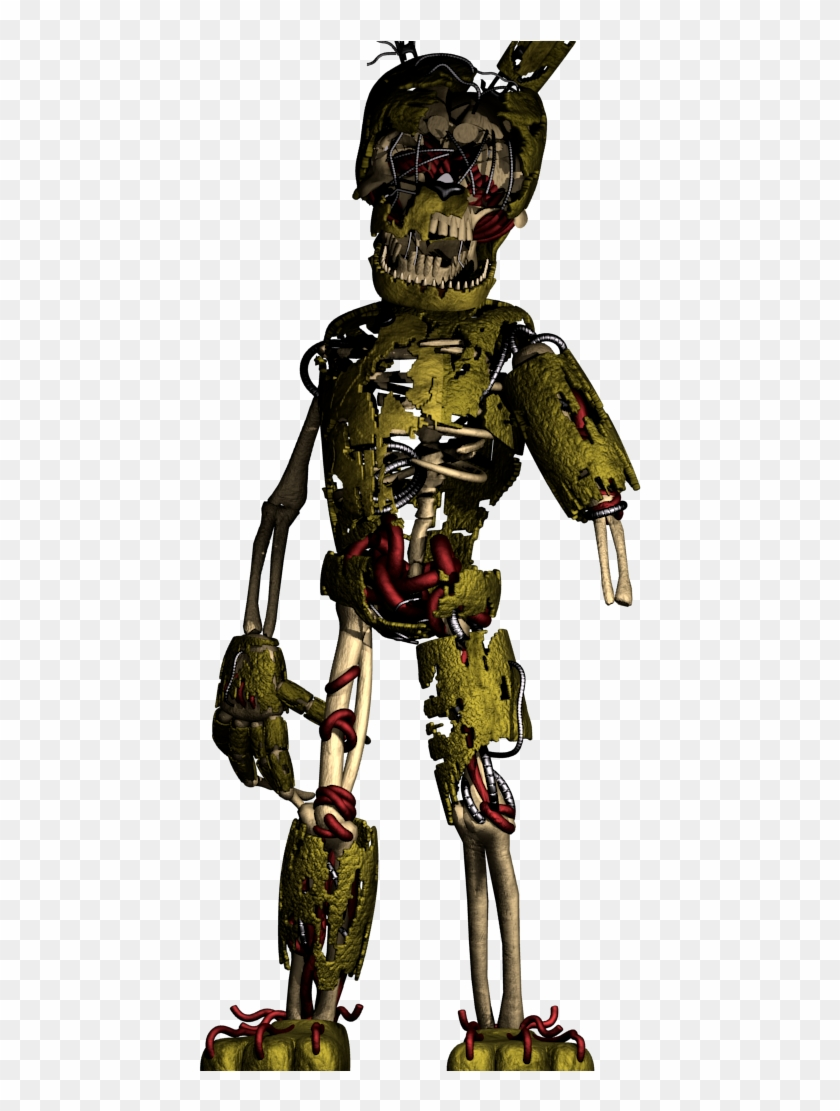 Made A Few Edits To Lazythepotato's Fnaf 6 Springtrap - Cartoon, HD