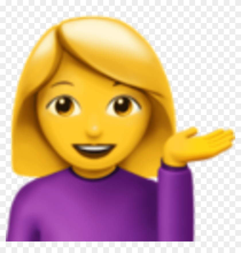Girl Emoji With Hands Up, HD Png Download - 1024x1024